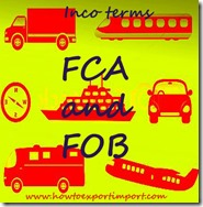 Difference between FCA and FOB in terms of Delivery of goods copy
